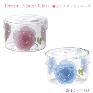 With Lid Cup Size L Rose Heat-Resistant Glass Pink Blue
