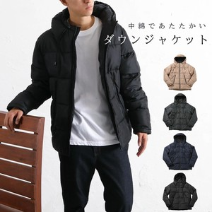 Padding Jacket Men's Insulated Jacket Outerwear Blouson Zip‐up Jacket Neck