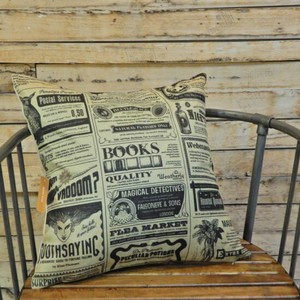 Vintage Style Paper Cushion Cover