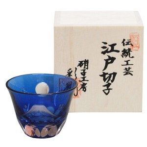 Glass Japanese Sake Cup Edo-kiriko cut glass