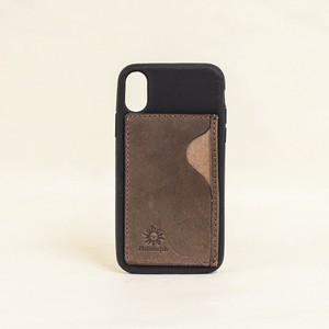 Case Leather Card Case Silicone Brown