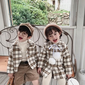 Children's Clothing Checkered Shirt One-piece Dress Kids Casual