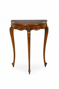 Mahogany Tripod Half Moon Table