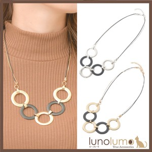 Necklace Ladies Metal Silver Gold Elase Circle Casual