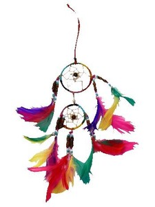 Leather Double Dream Catcher