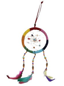 Feather Leather Dream Catcher