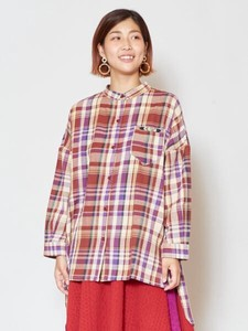 [2019NewItem] Checkered Band Color Shirt