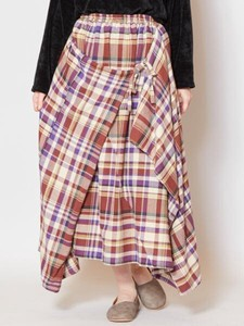 [2019NewItem] Checkered Deformation Skirt