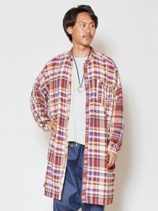 [2019NewItem] Checkered Band Color Long Shirt