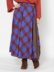[2019NewItem] Checkered Long Skirt