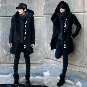 Coat Men's Trench Coat Work Coat Men's Military Outerwear Jacket Long