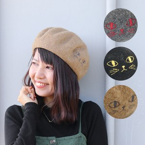 Beret cat Embroidery