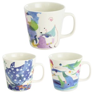 [ 2020NewItem ] Porcelain 1Pc Mug Polar Bear Penguin Whale Shark Dolphin