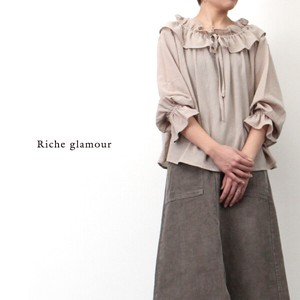 Toyayanagi Gauze Frill Color Blouse
