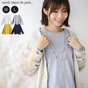 T-shirt Ladies Long Sleeve Tea Petit Necklace Embroidery T-shirt