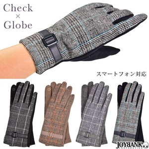Checkered Glove Smartphone Glove Checkered Glove Fashion Ladies