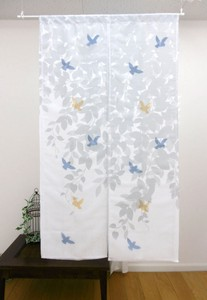 Japanese Noren Curtain Opal Processing Double Japanese Noren Curtain Leaf Bird