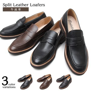 Leather Coin Fur Leather Shoes