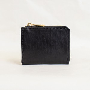 Himeji Fastener Compact Wallet Black Men's Ladies Black