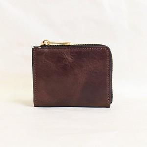 Himeji Fastener Compact Wallet Men's Ladies Brown