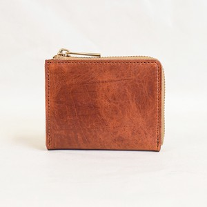 Himeji Fastener Compact Wallet Orange Men's Ladies Orange