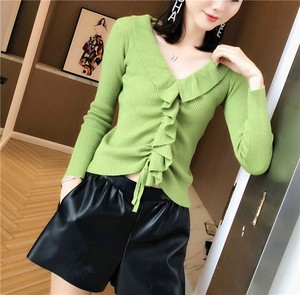 Knitted Top Fashion Casual Slim Cardigan Top