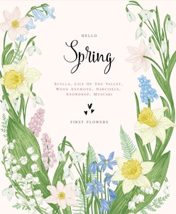 Letter Paper Hello Spring