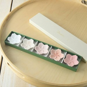 Gift Set of Box Miyama Sakura Chopstick Rest Five Colors MINO Ware