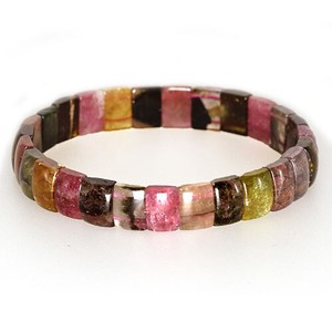 Natural stone Tourmaline Multi-Color Bangle