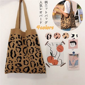 Leopard Knitted Bag Brown Shoulder Bag Bag Knitted Leopard Korea Fashion