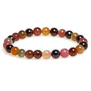 Natural stone Tourmaline Multi-Color Bracelet 7mm