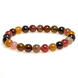 Natural stone Tourmaline Multi-Color Bracelet