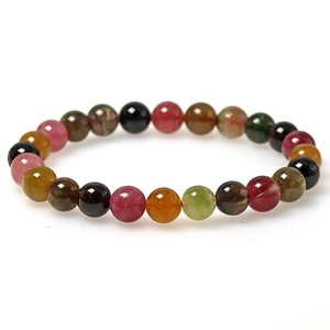 Natural stone Tourmaline Multi-Color Bracelet 8mm