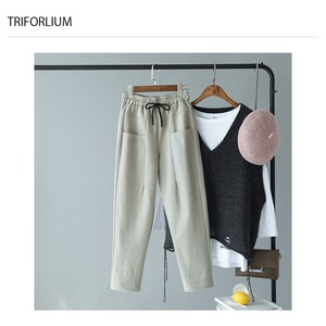 3 Colors Design Stretch Pants