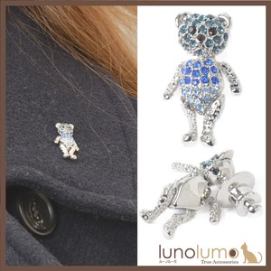 pin Batch Lapel pin pin Brooch Tuck pin Teddy Bear bear Blue Glitter