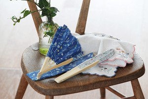 Botanical Folding Fan Handkerchief