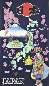 Japanese Noren Curtain Map Apprentice Geisha