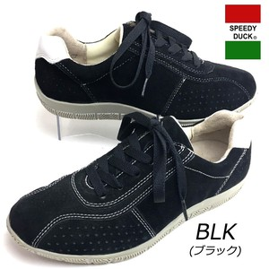 Genuine Leather Suede Wide Leather Sneaker 3E