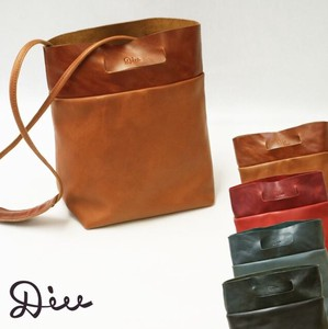Di 2-Way Square Tote Bag Leather Genuine Leather Shoulder Bag Strap