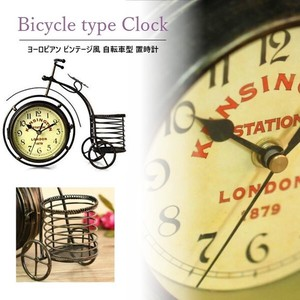 European Vintage Bicycle Clock/Watch Retro Antique Table Clock Antique
