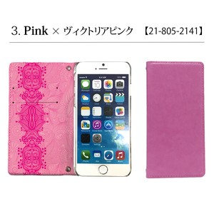 Slim Smartphone Case Notebook Type Pink Pink