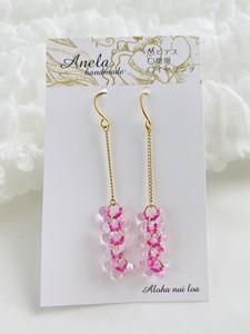 huaシリーズ Pink gold.01ピアス(イヤリングに変更可能)