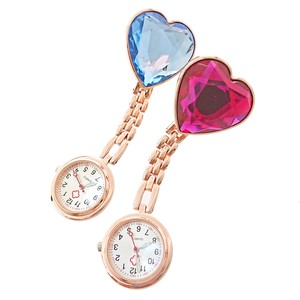 Pink Gold Bijou Heart Watch 2 type Pocket Watch Clock/Watch Analog