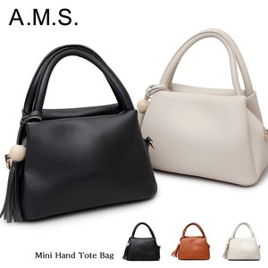 Tassel Charm Attached Leather Handbag Mini Shoulder Bag