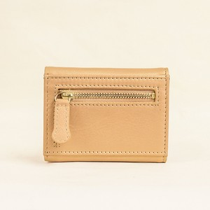 Three Gold Compact Wallet Ladies Gold
