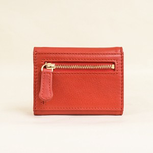 Three Red Compact Wallet Ladies Red