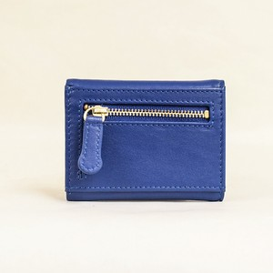 Three Blue Compact Wallet Ladies Blue