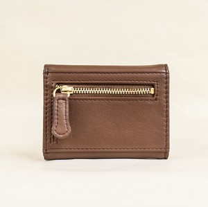 Three Compact Wallet Ladies Brown