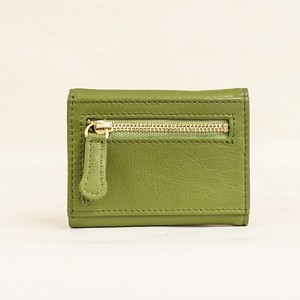 Three Green Compact Wallet Ladies Green