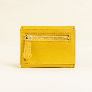 Three Yellow Compact Wallet Ladies Yellow